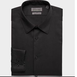 Calvin Klein Infinite Black Dress Shirt Slim Fit